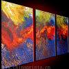 Pintura al óleo visual de los 3 paneles (SJMY2928)