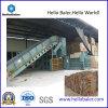 El papel automático, encuadierna la máquina hidráulica de la embaladora para la planta de reciclaje