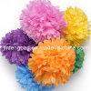 Bolas de papel colgantes de la flor del tejido POM Poms