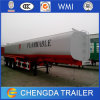 Vervoer 3 van de Olie van het voedsel de Aanhangwagen van de Tank van het Roestvrij staal van de As 40m3