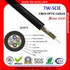 144 núcleo de tubo holgado miembro de fuerza no metálica trenzado no blindado gyfty cable de fibra óptica