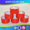 cinta del embalaje del color rojo BOPP de 40mic*48m m
