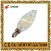 DEL allumant la lampe AC85-265V de bougie de filament de l'ampoule DEL