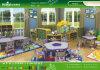 Tabelas e cadeiras da mobília do jardim de infância de Kaiqi
