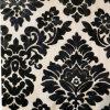 Clásica del damasco cortó el terciopelo Negro Sofá de la tela