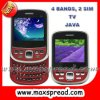E83 4 congriega 2 SIM TV, Java, teléfono celular de Ebuddy