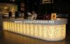 デザイナーコーヒーバーのカウンターのレストラン棒カウンター