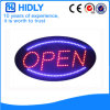 Muestra abierta impermeable oval de Hidly LED