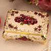 Rose Craft Gold Plating Trinket Box para los regalos de Gril