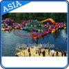 Strand-aufblasbarer Wasser-Park, See-sich hin- und herbewegende Wasser-Spiele, Handelsaqua-Park