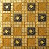 가정 장식적인 황금 유리제 예술 모자이크 (VMW3603)
