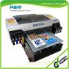 PVC ID 카드, 펜, 전화 상자, 유리, 세라믹 금속, t-셔츠 인쇄를 위한 세륨 승인되는 A2 탁상용 UV LED 평상형 트레일러 인쇄 기계