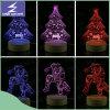 Buntes fantastisches Nachtlicht des Entwurfs-LED 3D