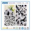 Tela 100% de algodón negra grande elegante del telar jacquar Anti-Pilling para la hoja/la ropa