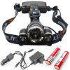6000lm 3 Cre E Mode T6 Headlamp Rechargeable Headlight DEL