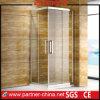 Recinto de la esquina elegante de la ducha del cuadrado de la entrada con la puerta deslizante dos (PT1142)