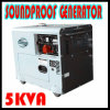generador del generador portable silencioso diesel de 5kw 5kVA mini