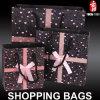 Bolsos de compras de papel impresos insignia de encargo del bolso del regalo