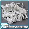 Weißes ausdehnendes kundenspezifisches großes langes Knopfloch-breites elastisches Band