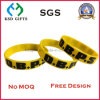 2016 Best Selling Silicone impresso personalizado / pulseira de silicone para presente promocional