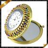 Form-Spiegel-Uhr-Kristall-Schmucksachen, kosmetischer Spiegel (MW007)