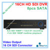 sustentação 8PCS SATA do registrador do CCTV DVR de 4CH SD1 1080P+12CH D1 16CH até 3tb cada câmera do Sdi da canaleta And16, Ml-9216xh-S1