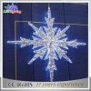 Lumière 2017 blanche d'étoile de décoration de vacances de motif de Noël DEL 2D