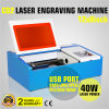 cortadora del laser del USB de la máquina de grabado del CO2 40W