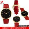 Verkaufs-Mann-Frauen-Uhr-förderndes lederne Quarz-Uhren Gold überzogenen Mode-Armbanduhr-Männer der Form-Yxl-060 der heißes