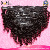 18 дюймов Can Dye Any Color Clip в Natural Curly бразильском Hair Extensions