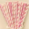 Venta caliente de papel rosa pajas de beber