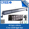 二重Row 288W Car Auto LED Lgiht Bar 4D Reflector