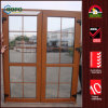 Woodgrain Color UPVC French Doors with Grilles