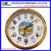 Печатание логоса высокого качества часы стены изготовленный на заказ круглые пластичные (Item23)