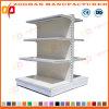 Metalldoppeltes seitliches Supermarkt-Bildschirmanzeige-Regal (ZHs644)