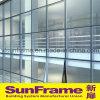 Système glaçant uni par aluminium de mur rideau