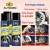 Reifenschaum, Gummireifen-Reinigungsschaum, Schaumreifenreiniger, Reifenpflege, Reifen Reinigen und Polieren