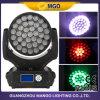 Luzes principais moventes do estágio do diodo emissor de luz da lavagem do pisco de peito vermelho 37X10W da veste