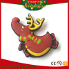 Alces personalizados livres de Santa do ímã do refrigerador dos presentes da promoção do projeto (RC-CR018)