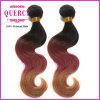 Quercyの毛のOmbreカラーブラジルの毛の拡張ボディ波100%のブラジル人のバージンの人間の毛髪