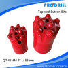 Button afilado Drill Bit para Rock Drilling