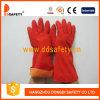 Luva morna DHL610 do látex vermelho