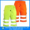 Pantaloni mezzi degli uomini del cotone di Reflctive del lavoro su ordine di sicurezza