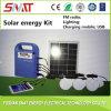 iluminação portátil do sistema do jogo da energia 5W solar, rádio de FM, música, saída do USB, móbil cobrando