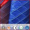 Hangbags 격자 패턴 새로운 디자인 1.2mm를 위한 PVC 가죽에는 2개의 음색 도매 싼 가격 주식이 있다