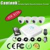4CH mini cámara del CCTV de los kits 1MP 2MP de Xvr y de la cámara