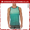 L'OEM entretiennent le T-shirt sans manche bon marché de polyester estampé par 3D d'hommes (ELTMBJ-464)