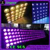 25 pistas 10W calientan la luz blanca del efecto de la anteojera de la matriz del LED