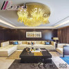 Lampe pendante en verre de fleur de luxe de tailles importantes de Champagne avec l'hôtel