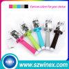 ユニバーサル贅沢な虹の人間の特徴をもつIosのための小型MonopodケーブルのSelfieの棒